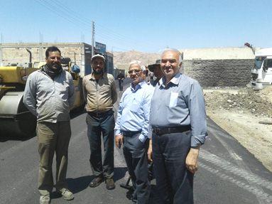 اعضاى شوراى شهر بسطام از پروژه آسفالت بلوار امام خميني(ره) بازديد كردند