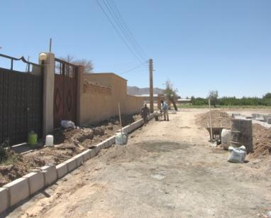 بهسازي معابر شهرك رضوي ادامه دارد