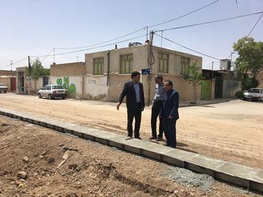 بازديد شهردار و شوراي شهر از پروژه هاي عمراني